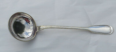 Christofle Chinon Pattern (Fiddle/Filet) Silver Plated Large Soup Ladle 1858