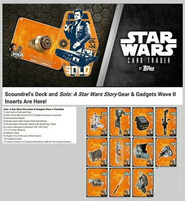 SOLO GEARS & GADGETS WAVE 2 COMPLETE SET OF 11 Topps Star Wars Trader Digital