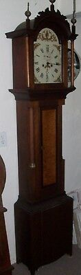 Early Antique New Hampshire Grandfather Clock---1820's----Birch-Maple----R727