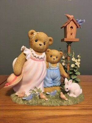 """Cherished Teddies-Bronte & Gage 9""""x8"""" RARE Piece Double Signed # 503 of 1,200"""