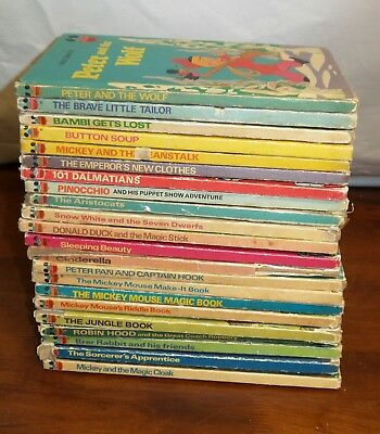 Lot of 22 - Vintage 1970's - Disney's Wonderful World Of Reading Hardcover Books