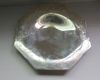 "Shreve & Co Sterling Silver 11 1/2"" on Pedestal Plate Platter 11089"