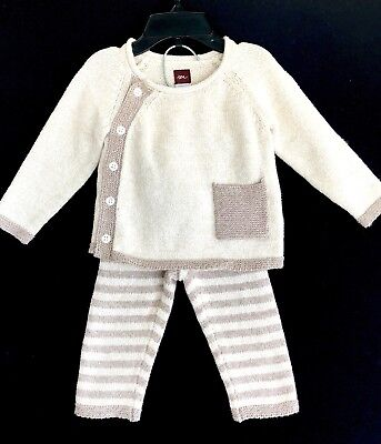Tea Knitted Sweater Top And Leggings Retails $75 NWT Price $39 6-12 Months