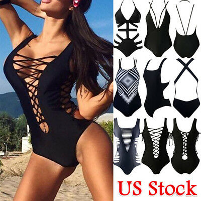 Sexy Women Swimwear One Piece Swimsuit Monokini Push Up Bikini Beachwear Bandage