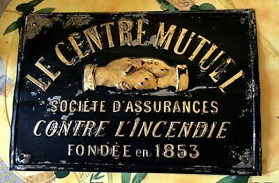 Antique French Fire Insurance Plaque