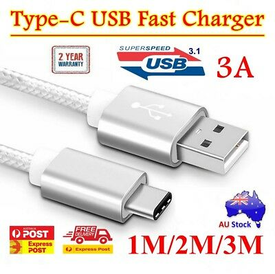 Type-C USB-C 3.1 Male Data Snyc FAST Charger Cable For Samsung Galaxy S8 S9 Plus