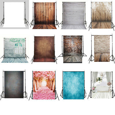 5X7FT Vinyl Studio Photography Backdrop Stand Floor Light Background Props Kit