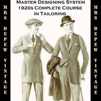 1920s Master Designer's System Cutting Men's Tailoring Pattern Drafting Book CD