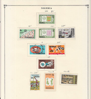 Nigeria - 1974/1980 stamp collection on double-side Scott pages