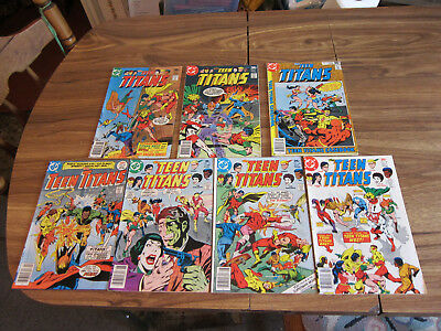 The Teen Titans, Lot of Seven, 47, 48, 49, 50, 51, 52, and 53  Good to Fine