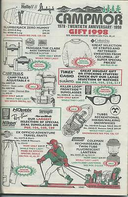 Campmor 1998 Vintage Gift Catalog Outdoor Clothing. Camping Merchandise Supplies