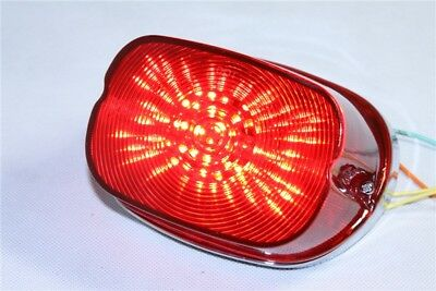 LED Red Tail Brake Light Turn Signal Lamp For Harley Sportster Softail Fatboy