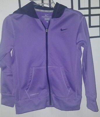 Girls - NIKE - Therma-Fit Hooded Zip Up Active Athletic Sweatshirt Hoodie M