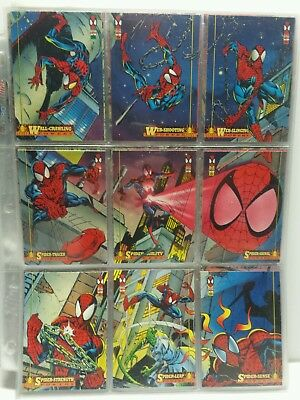The Amazing Spider-Man Complete Trading Card Set 1 - 150 Cards Marvel Cards 1994