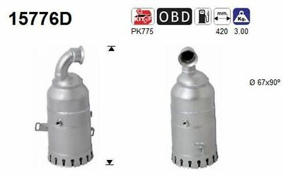 AS Catalyseur 15776D pour Citroën Peugeot Mini Xsara Picasso 407 307 307 SW
