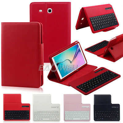 """Bluetooth Keyboard For Samsung Galaxy Tab E 9.6"""" SM-T560 T561 With Leather Case"""