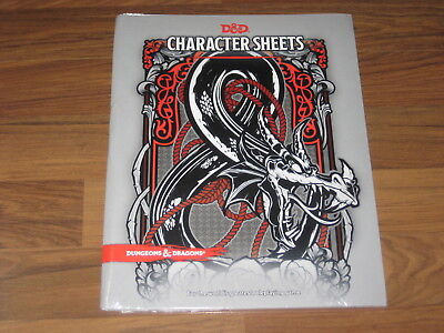 D&D 5th Edition Characters Sheets Accessory Wizards Of The Coast New Sealed