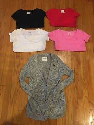 Lot Of 5 Girls Clothing Abercrombie Kids T Shirts Sweater XL Knit