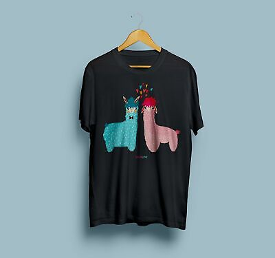 861fb0d90 Llama T-Shirt Lama Love Short Sleeve Animals Tee Gift For Her Him Unique  Clothes