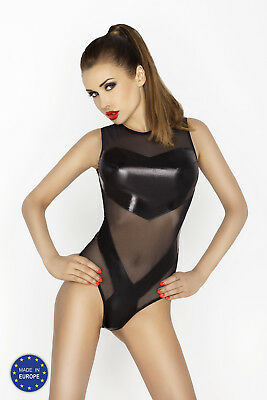 Clover Body Suit, Mesh & Wetlook Teddy, Fetish, Kinky, 50 Shades, PVC Look, Sexy