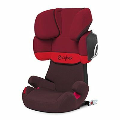 CYBEX Solution X2-Fix, Toddler Car Seat Group 2-3, Rumba Red - Dark Red