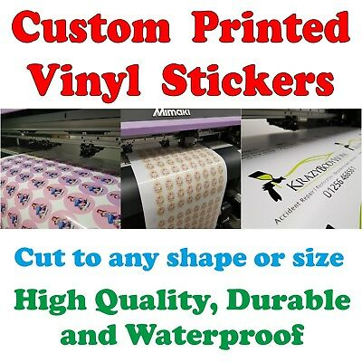 High Quality Printed Vinyl Stickers Decals Custom Labels Cut to any shape Size