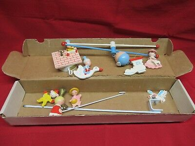 Vintage 1960s IRMI Handpainted Mobile No M815 Musical Mother Goose Mobile w Box