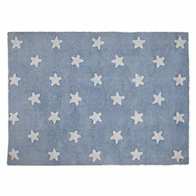 Lorena Canals Washable Rug (Blue Stars/White)
