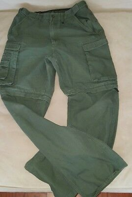 BOY SCOUTS Of AMERICA Canvas Zip Off Pants Convertible Cargo 30 x 32