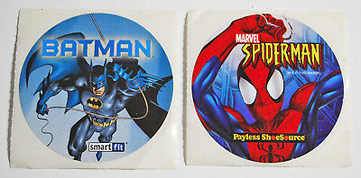 Rare Vintage Spiderman Batman Stickers Payless Shoe Source Smart Fit