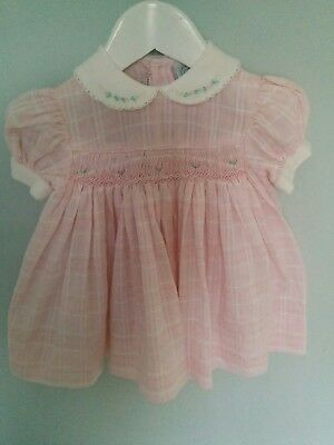 Baby Girl's Spanish Style / Traditional Smocked Dress 12-24mths approx