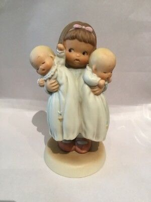 """Enesco 1990 Memories Of Yesterday """"Who Ever Told Mother To Order Twins?"""" 520063"""