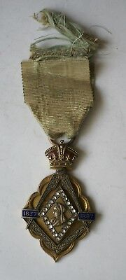 1897 Queen Victoria Diamond Jubilee Masonic commemorative jewel