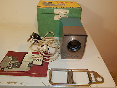 Vintage Etude Still Slide Projector in original box and in very good condition