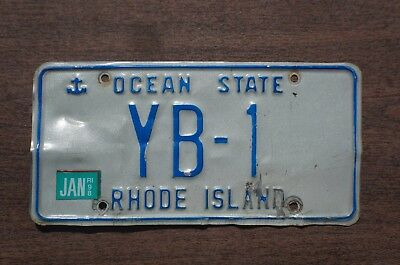 1990's 1998 Rhode Island License Plate Number Tag # YB - 1