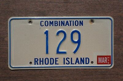 1996 Rhode Island Combination License Plate Number Tag # 129