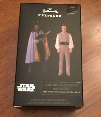 SDCC Comic Con 2018 Star Wars Lando Calrissian Lobot Hallmark Keepsake Ornaments