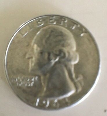 "1964 D Washington Silver Quarter ""FREE SHIPPING"" Good Album Filler"