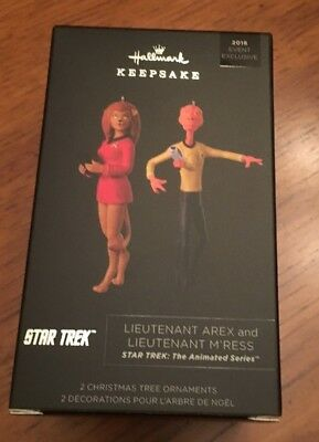 SDCC Comic Con 2018 Star Trek Lieutenants Arex M'Ress Hallmark Keepsake Ornament