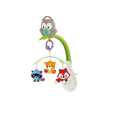 3-In-1 Fisher-Price Woodland Friends Mobile Music Crib Toy Infant Musical Toy