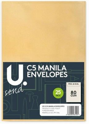 """manila Envelopes""choice Of Size & Packs Home/office Postal Mail Brown Envalopes"