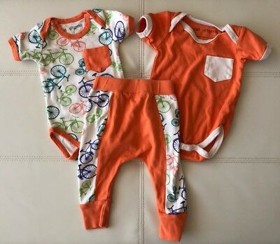 Auth Cat And Dogma Bike Bicycle Orange Baby One Piece 2 Sets Harem Jogger Pant