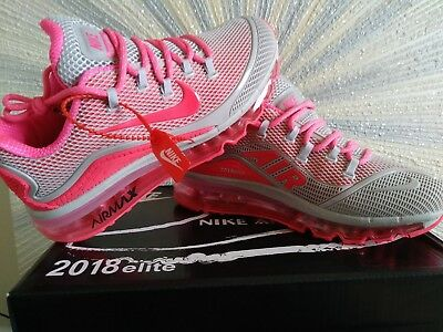 Women's Nike 2018 Air Max Elite, brand new, white/ hot pink, SIZE 8