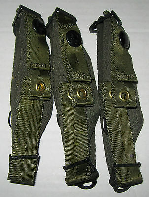 Lot of 3 US Army Military Surplus PASGT Helmut OD Green Chin Straps NEW