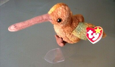 Ty Beanie Babies-- Beak --Mint Condition--1998 P.e. Retired-- Red Stamp -Plush