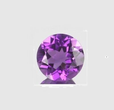 Natural Amethyst 7mm Round Cut 1pc