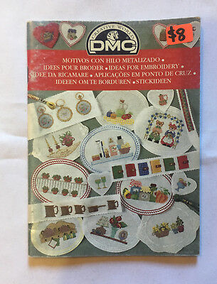 DMC Ideas For Emboidery. Instruction and pattern book. Red cover Ref.12580-22
