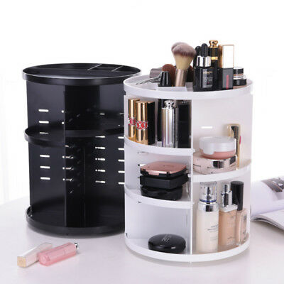 360 Degree Rotating Cosmetic Makeup Organizer Box Storage Spinning Rack Case