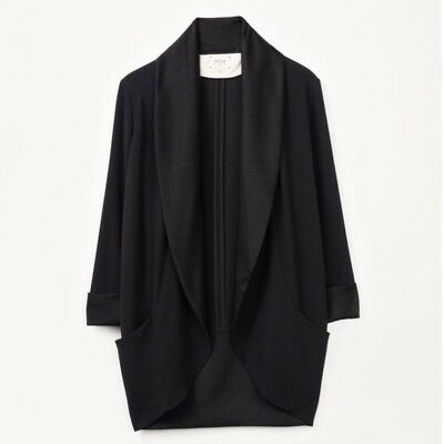 Wilfred Chevalier Blazer Jacket Black Tuxedo Crepe - Size 4 Small - Retail $225