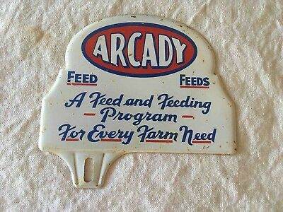 Old Feed Arcady Feeds for Every Farm Advertising License Plate Topper